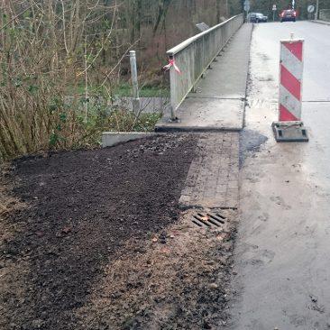 Regenwaterafvoer langs de weg