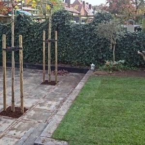 Bestrating tuin en aanleg grasmat